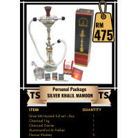 Personal Package  - Silver Khalil Mamoon Hookah