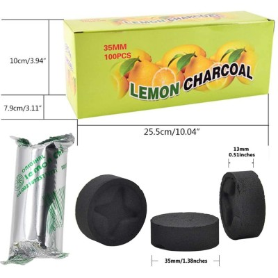 Lemon Charcoal - 100pcs
