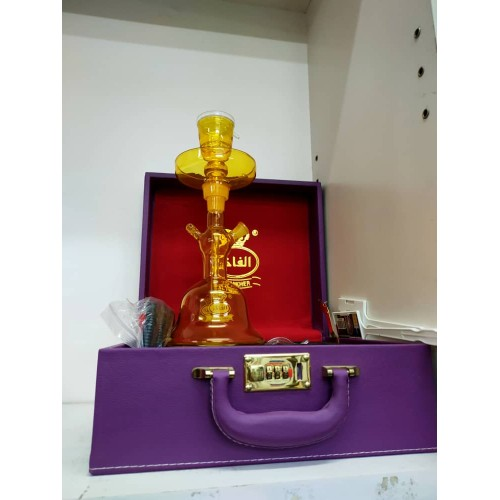 Al Fakher All Glass Shisha with Carry Case 2021